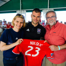 Hungarian Heritage Day in honor of Nikolic at the Chicago Fire Stadium